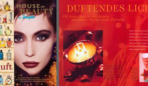 Corporate Media >> House of Beauty / Kunde: Douglas / Zielgruppe: Endverbraucher / 3x p.a. / Umfang: 28 Seiten / Auflage: 2 Millionen