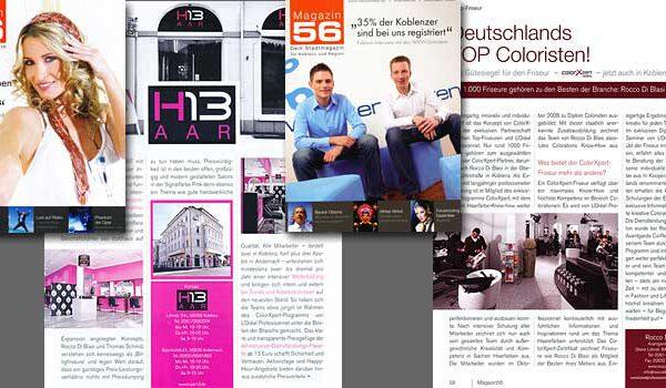 PR >> Stadtmagazin-Koblenz / Kunde: L'Oreal Professionelle Produkte / Zielgruppe: Endverbraucher / Auflage: 15.000